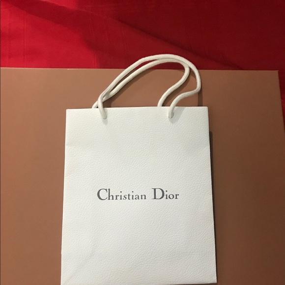 Dior Other   Christian White Shopping Bag   Poshmark a31f7da6c3